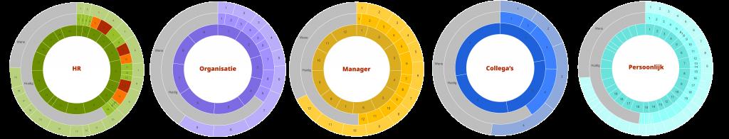 PBOP 360-gradenorganisatiestressbarometer per niveau